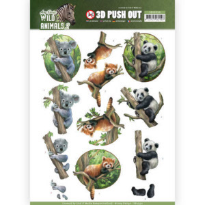 SB10350 3D Pushout - Amy Design - Wild Animals 2 - Bears(#HJ170)