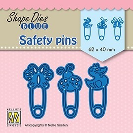 SDB079 Shape Dies BlueSafety pins