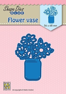 SDB081 Shape Dies BlueFlower vase