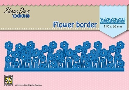 SDB082 Shape Dies Blueflower border