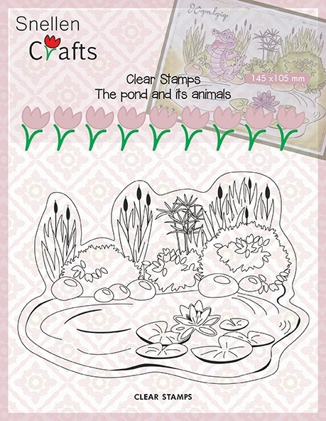 CLP001 Clear Stamps Pond Life: pond