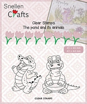 CLP002 Clear Stamps Pond Life: Crococile