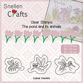 CLP004 Clear Stamps Pond Life: insects