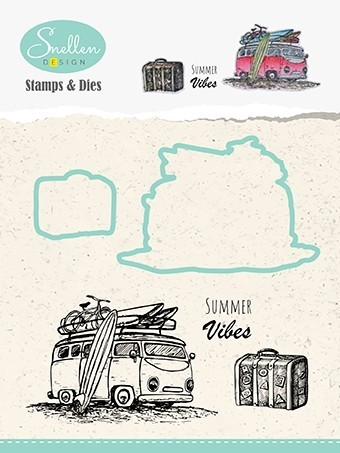 HDCS002 Holiday diecut & clearstamp set bus