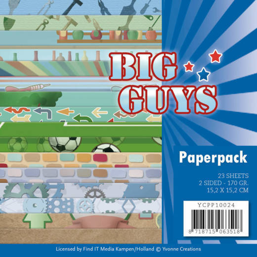 YCPP10024 Paperpack - Yvonne Creations- Big Guys