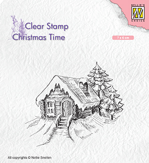 CT030 Clear Stamps Christmas time Cosily snowy cottage
