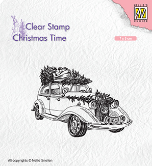 CT031 Clear Stamps Christmas time Christmas tree Transport