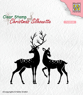 CSIL006 Christmas silhouette clear stamps Deer