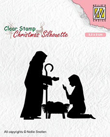 CSIL007 Christmas silhouette clear stamps Nativity-2