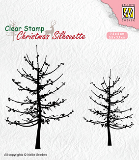 CSIL010 Christmas silhouette clear stamps leafless trees