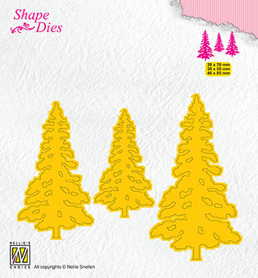 SD167 Shape Dies Pinetrees