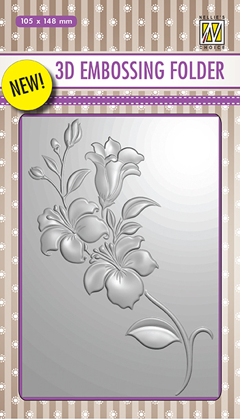 EF3D005 3D Embossing Folders Branch with Flowers