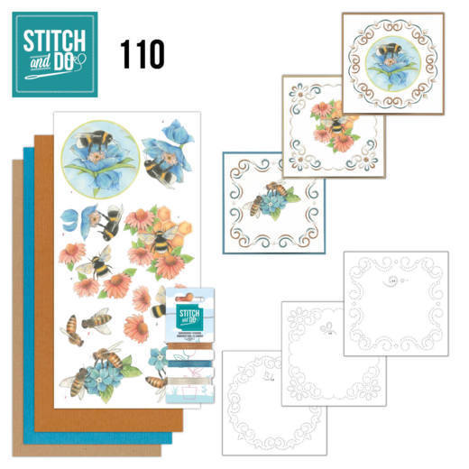 STDO110 Stitch and Do 110 Bees and Flowers