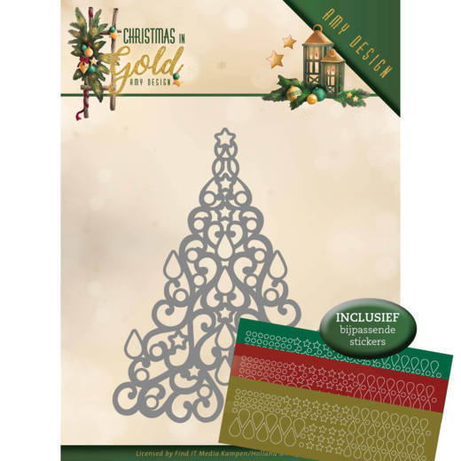 ADD10182 Dies - Amy Design - Christmas in Gold - Christmas Tree Hobbydots (HJ172)
