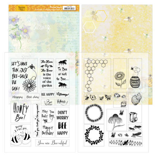 JAMC1001 Mica Sheets - Jeanines Art - Buzzing Bees