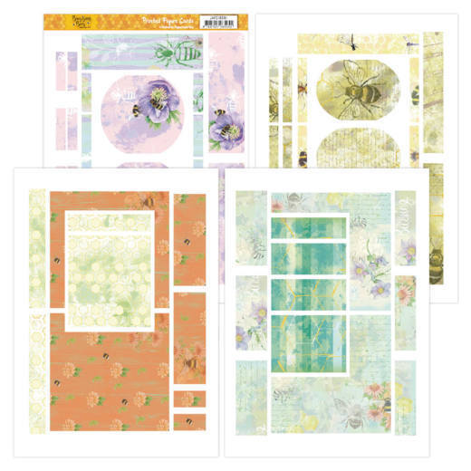 JAFC20001 Printed Figure Cards - Jeanines Art - Buzzing Bees