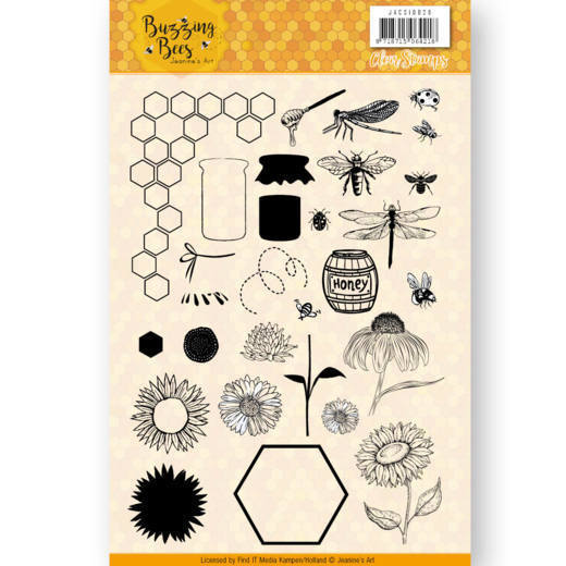 JACS10028 Clear Stamps - Jeanines Art - Buzzing Bees