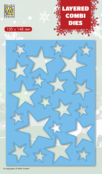 LCDCS001 Layered combi Dies Christmas stars Layer A)