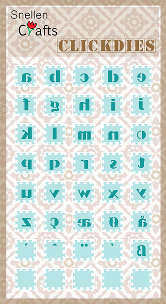 SCCD002 Clickdies alphabet-2 (small letters)