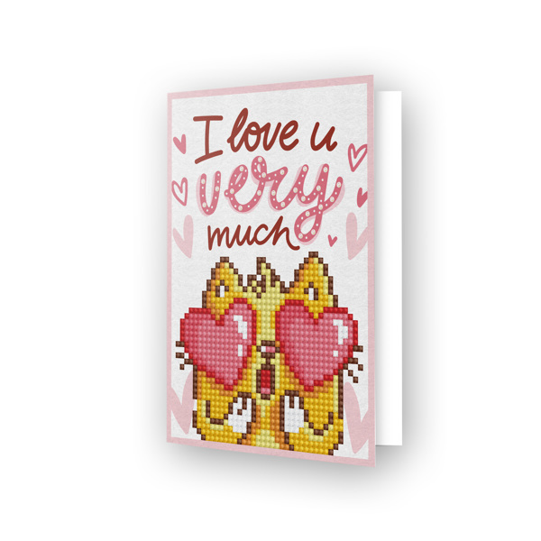 DDG.002 DIAMOND DOTZ® - 12.6x17.7 cm - Greeting Card LOVE YOU