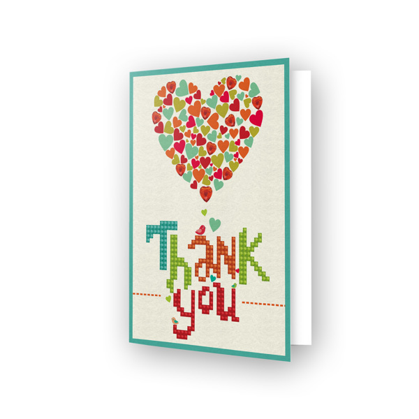 DDG.005 DIAMOND DOTZ® - 12.6x17.7 cm - Greeting Card THANK YOU HEART
