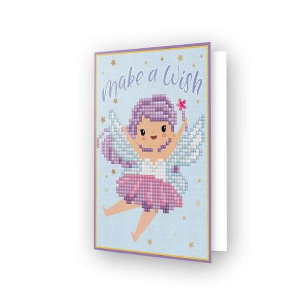 DDG.011 DIAMOND DOTZ® - 12.6x17.7 cm - Greeting Card MAKE A WISH