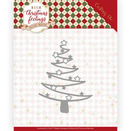 PM10164 Dies - Precious Marieke - Warm Christmas Feelings - Star Tree (HJ173)