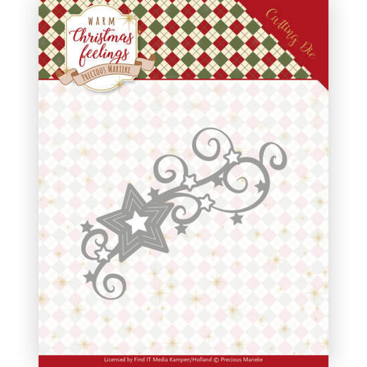 PM10162 Dies - Precious Marieke - Warm Christmas Feelings - Christmas Swirls (HJ173)