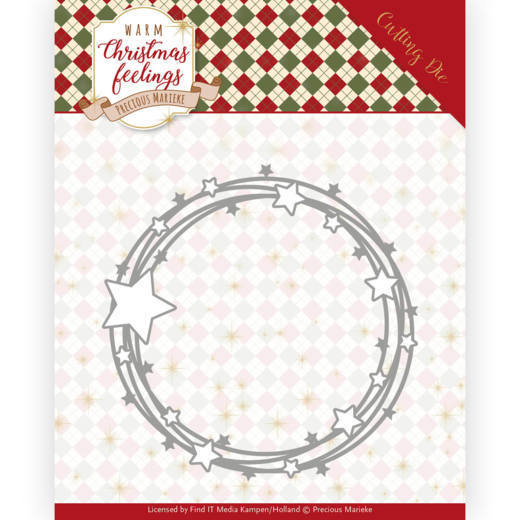 PM10161 Dies - Precious Marieke - Warm Christmas Feelings - Star Circle (HJ173)
