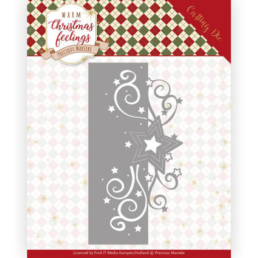 PM10160 Dies - Precious Marieke - Warm Christmas Feelings - Swirl Star Edge (HJ173)