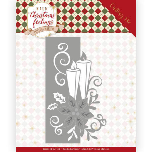 PM10159 Dies - Precious Marieke - Warm Christmas Feelings - Candle Edge (HJ173)