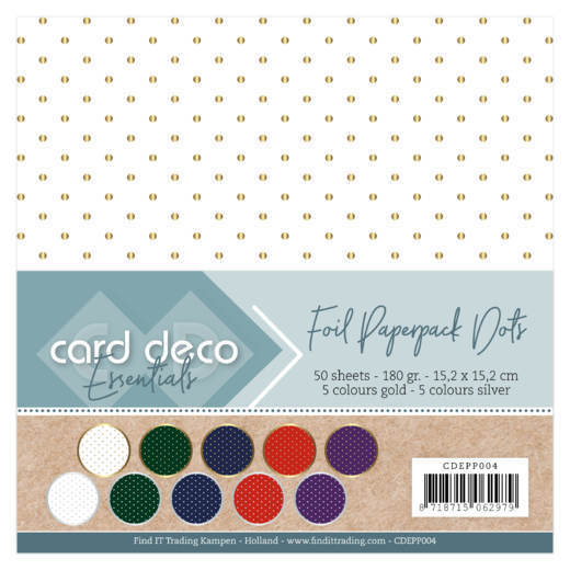 CDEPP004  Card Deco Essentials - Foiled Paperpack Dots