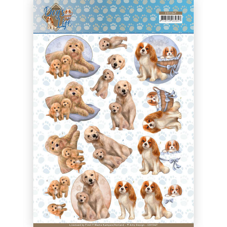 CD11367 3D Knipvel - Amy Design - Dogs Life - Dog Mommy
