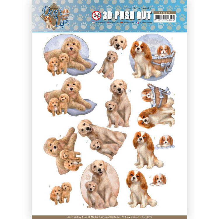 SB10379 3D Pushout - Amy Design - Dog's Life - Dog Mommy