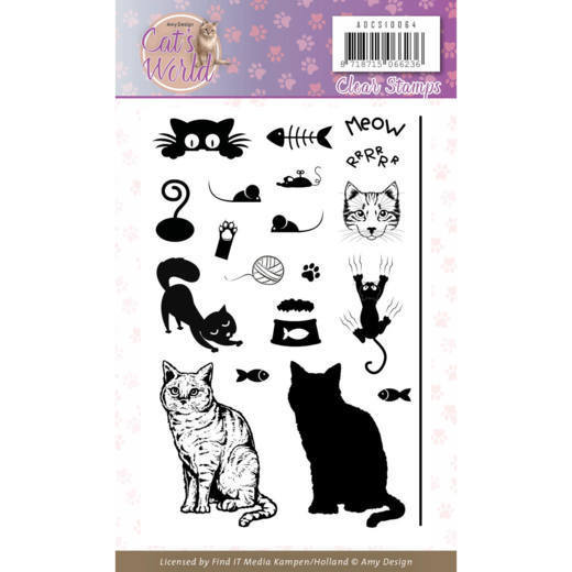 ADCS10064 Clear Stamps - Amy Design - Cats World