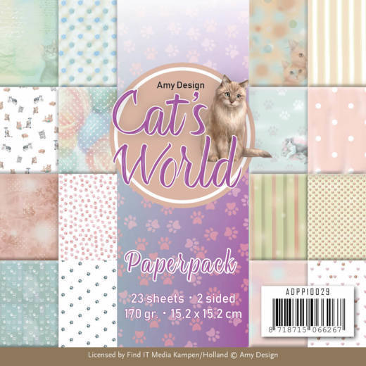 ADPP10029 Paperpack - Amy Design - Cats World