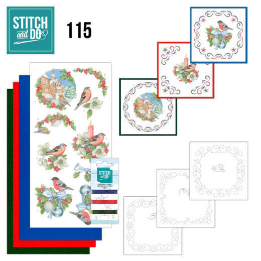 STDO115 Stitch and Do 115 Christmas Birds