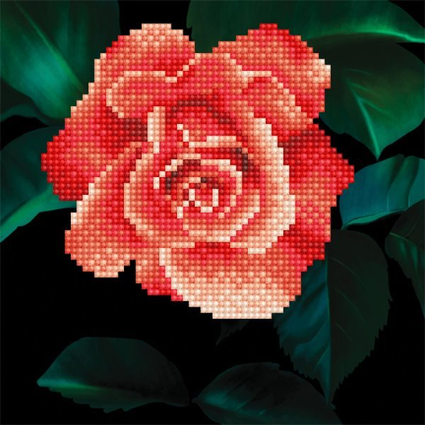50445 DIAMOND ART - 20.32 x 20.32cm Kits Rose