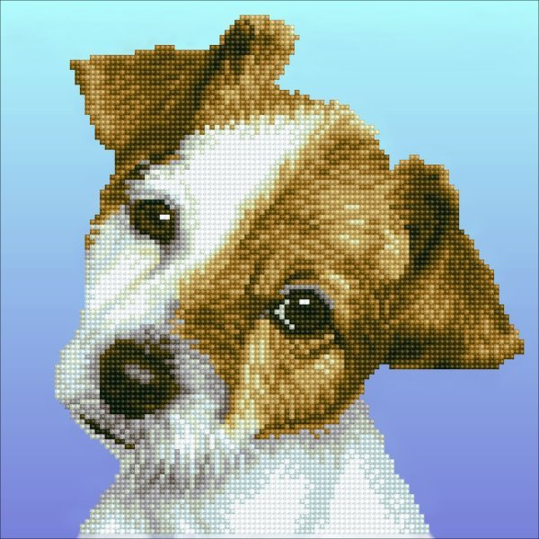 50462 DIAMOND ART - 30.48x30.48cm - Kits Puppy