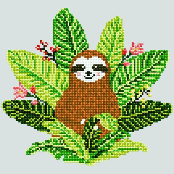 51151 DIAMOND ART - 30.48x30.48cm Kits Sloth