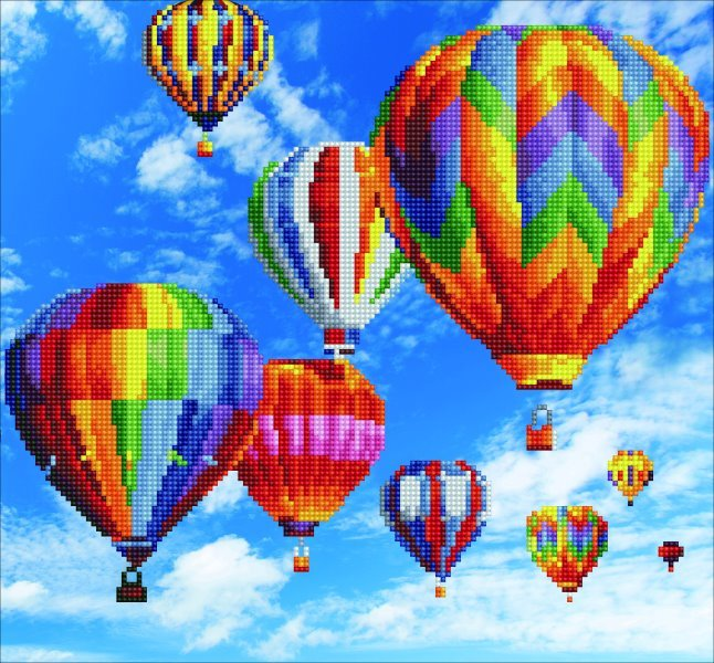 50451 DIAMOND ART - 40x37cm Kits Balloons