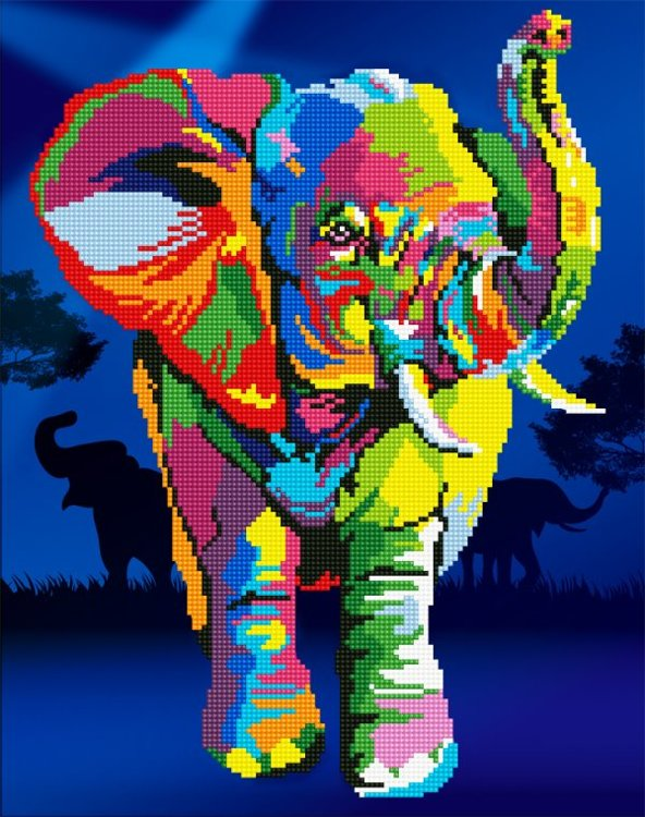 50457 DIAMOND ART - 37x47cm Kits Elephant