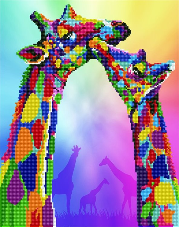 50463 DIAMOND ART - 37x47cm Kits Giraffes