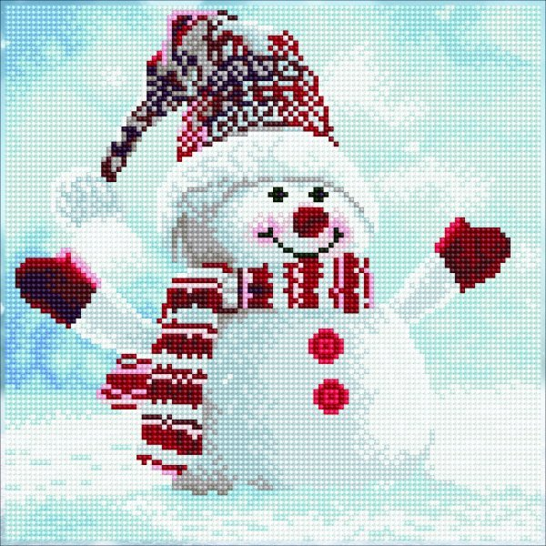 51139 DIAMOND ART - 30.5x30.5cm - Kits Snowman