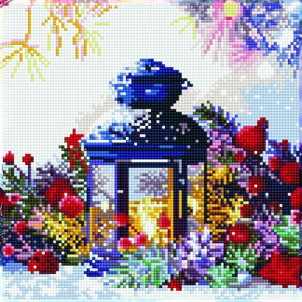 51140 DIAMOND ART - 30.5 x 30.5cm Kits Lantern