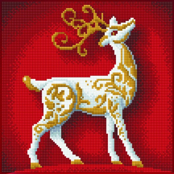 51141 DIAMOND ART - 30.5x30.5cm - Kits Reindeer