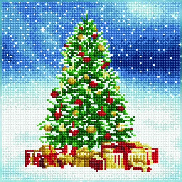 51143 DIAMOND ART - 30.5x30.5cm - Kits Christmas Tree