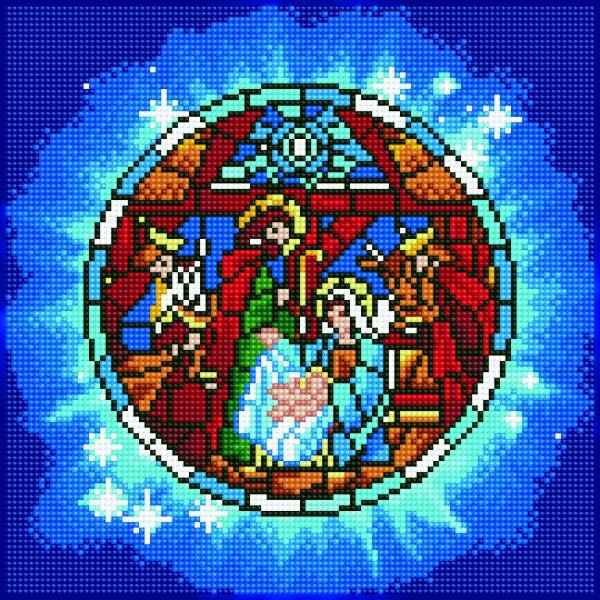 51146 DIAMOND ART - 30.5x30.5cm - Kits Nativity