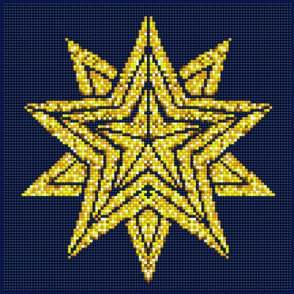 51147 DIAMOND ART - 30.5 x 30.5cm Kits Star