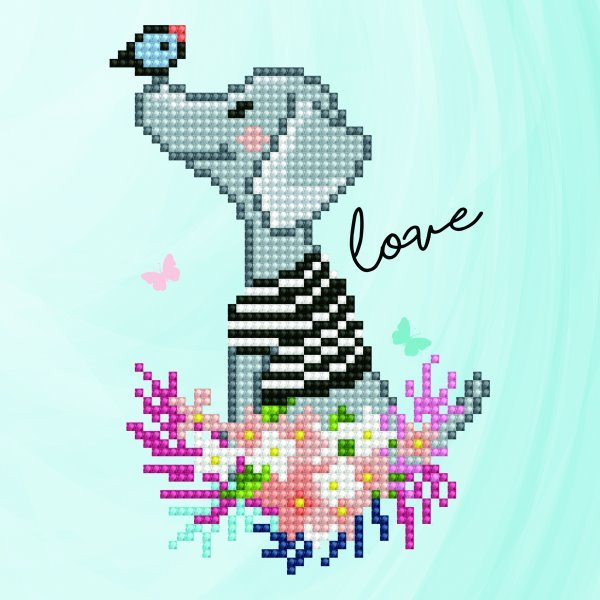 50482 DIAMOND ART - 20.32 x 20.32cm Kits Goggie Love